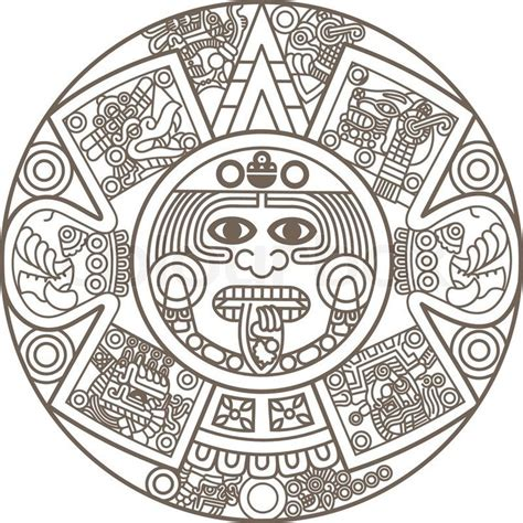 aztec calendar tribal tattoos 17 best images about stencils on bull tattoos
