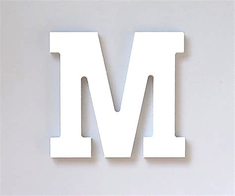 lettere legno lettera legno bianco decorativa