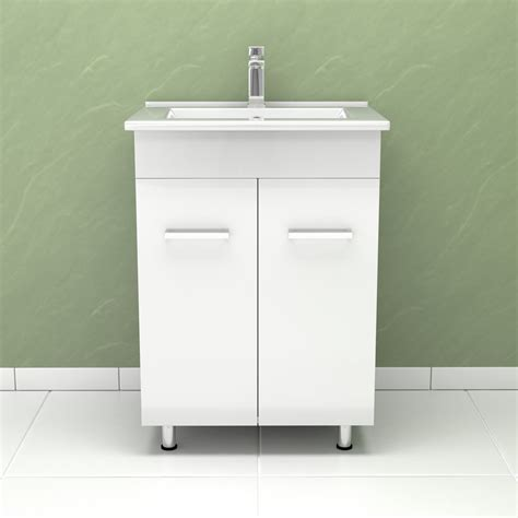 High Gloss White Bathroom Furniture Modern High Gloss White Bathroom Furniture Vanity Storage Unit With Basin Sink Ebay