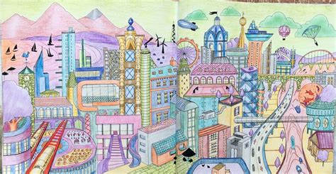 imaginary colors cities an imaginary city done in opposite colours