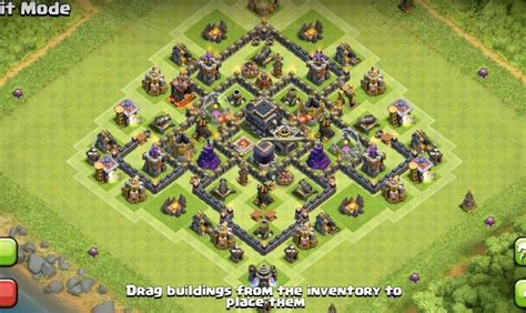 Layout For Th7 | th7 farming base layout www pixshark com images