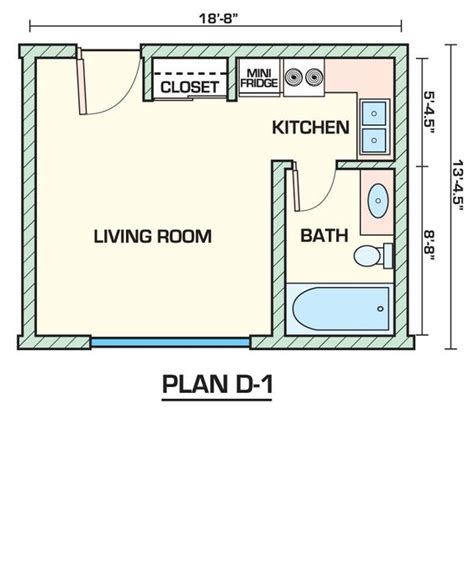 studio apt floor plans apartment 14 studio apartments plans inside small 1