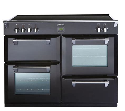 kitchen range with induction hob buy stoves richmond 1100ei electric induction range cooker black free delivery currys