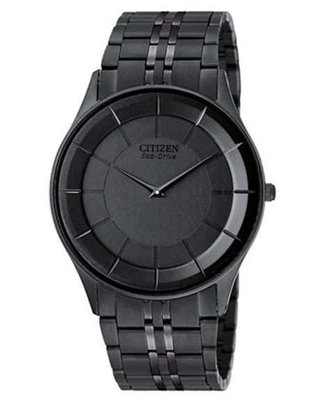 citizen s eco drive black ion plated stainless steel