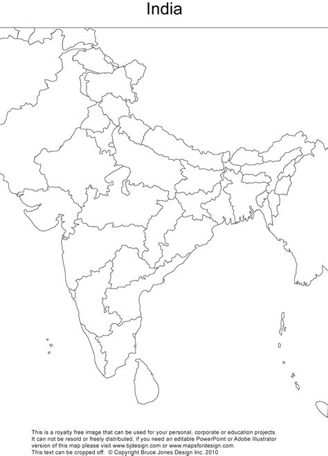 India Outline Map For Printing by India Printable Blank Maps Outline Maps Royalty Free