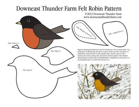 Longing For Spring Felt Robin Ornament Birds Feeding Watching And Crafts Pinterest Felt Robin Decoration Template