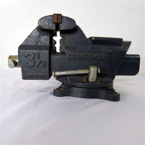 craftsman professional bench vise vintage craftsman bench vise vice machinist pipe tool
