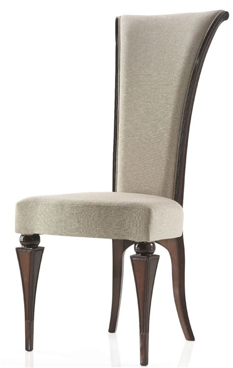 high back italian contemporary style dining chair