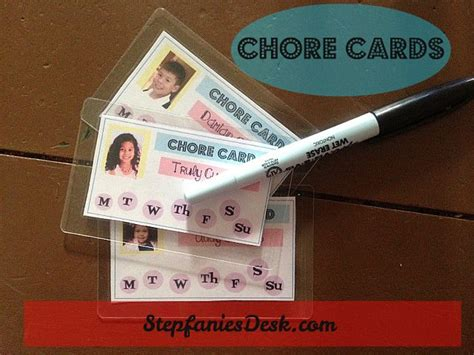Chore Cards Template by Free Printable Chore Cards San Antonio Blogs