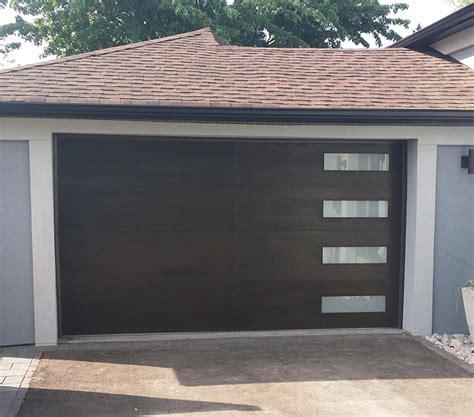 Frosted Garage Door by Modern Fiberglass Garage Woodgrain Door With 4 Frosted