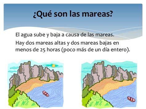 que producen las mareas altas diapositiva las mareas