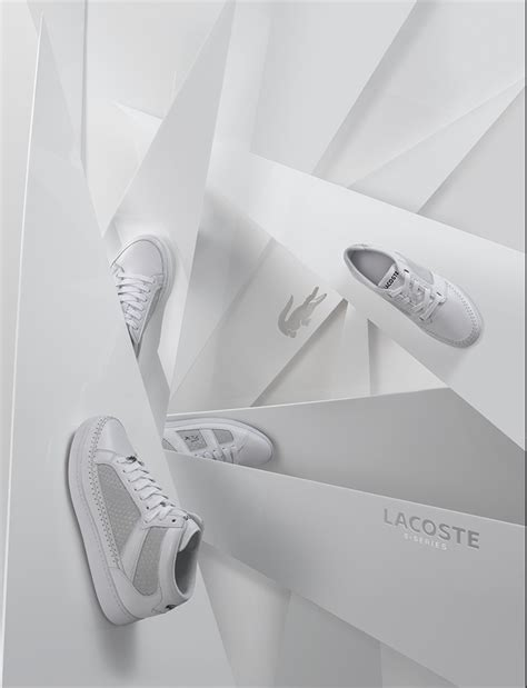 Lacoste Set 6 lacoste advertising set builds pep retail signage and