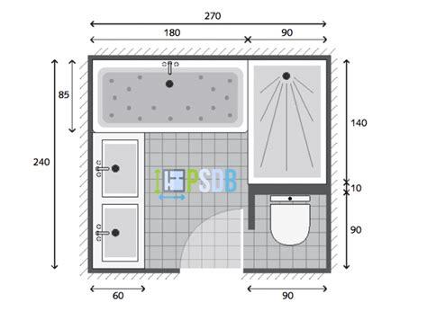 Modele Salle De Bain 5m2 plan plan salle de bain de 6 5m2 mod 232 le et exemple d