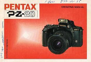 Pentax Pz 20 Instruction Manual User Manual