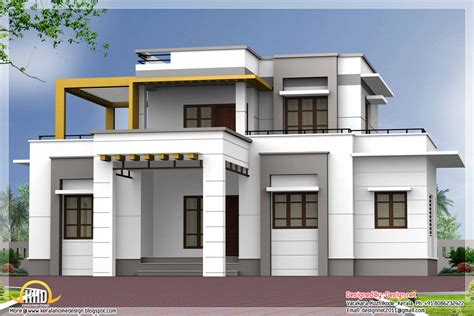 3 bedroom contemporary flat roof house kerala home design and floor plans
