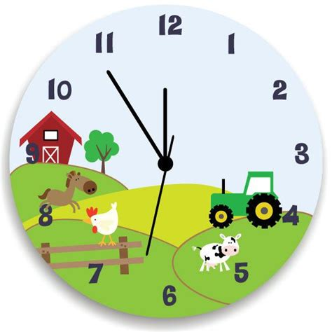 boys bedroom clock boys bedroom clock life in farm nursery wall hanging