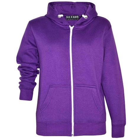 Basic Jacket Hoodie Unisex With Zipper Available In 16 Colou 1 boys unisex plain fleece hoodie zip up style zipper age 5 13 years ebay