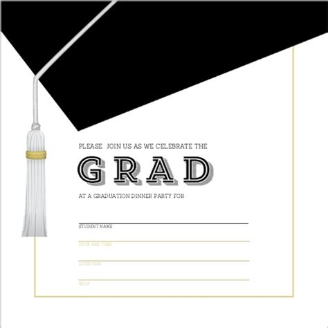 graduation cap invitation kit 5 5 quot x8 5 quot set 24 49664 classic and modern graduation cap fill in the blank