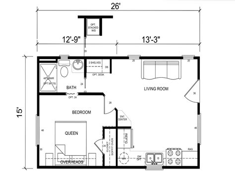 small cabin floor plans small modern guest house plans