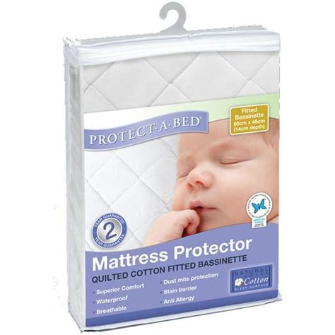 Protect A Bed Mattress Protector by Mattress Protector Bassinet Cotton Quilted Fitted By