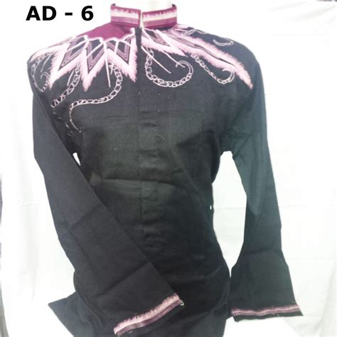 New Baju Koko Persib Hitam contoh baju koko lengan pendek hitam gambar jual baju koko