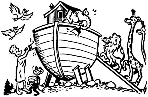 coloring page of noah s ark with animals noah ark clipart cliparts co