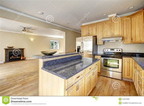empty kitchen kitchen area in empty new house stock photo image 44678360