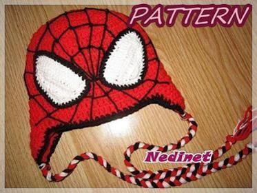 Spiderman Hair Pattern | spiderman crochet hat pattern nedinet pinterest