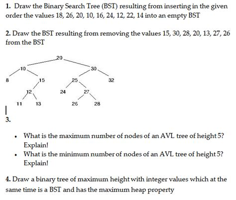 draw the binary search tree bst resulting from i