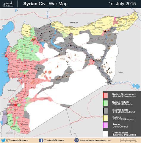 syrian war map syrian civil war in maps