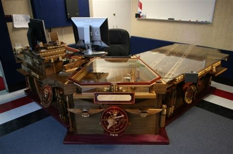 omgaircraft carrier desk woodworking talk