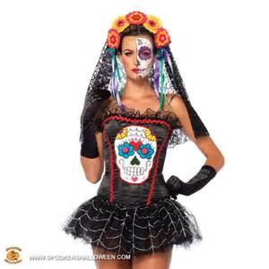 batgirl tattoo sugar skull bustier costumes for women spookers halloween
