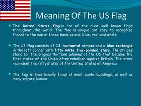 american flag colors meaning the government of the united states of america