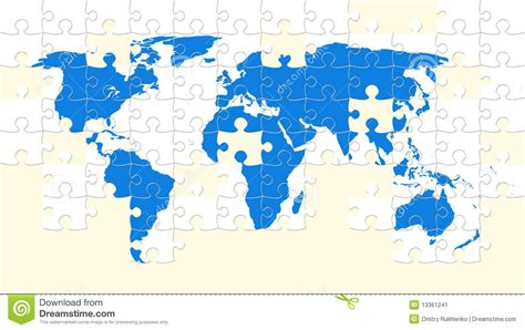printable map puzzle of world world map puzzle stock illustration image of tile pieces