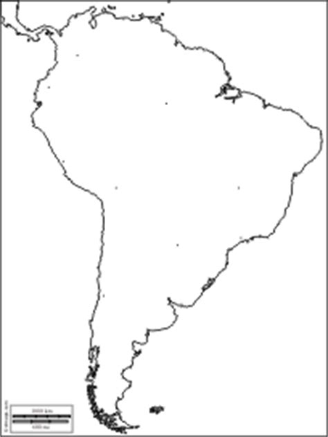 south america map outline blank blank map of south america