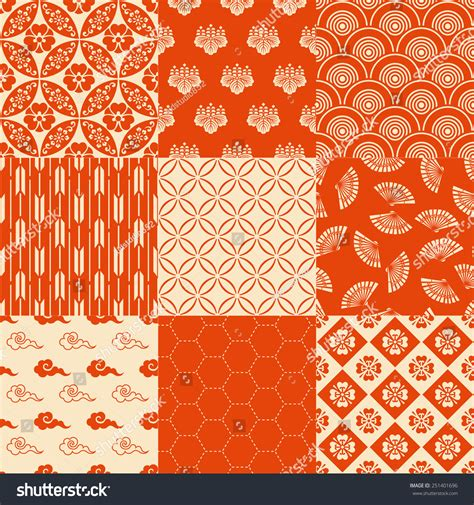 traditional japanese pattern vector seamless traditional japanese pattern stock vector
