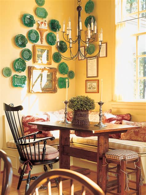 yellow french country dining room hgtv
