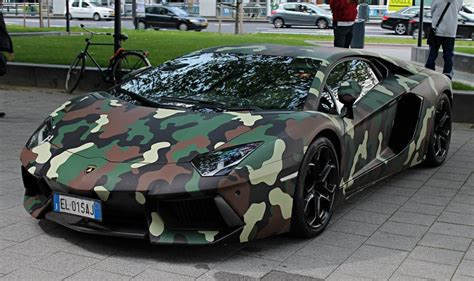 camo maserati lamborghini aventador with jungle camouflage wrap