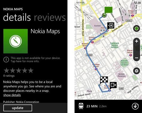 nokia maps nokia maps for windows phone 7 marketplace listing screenshots revealed istartedsomething