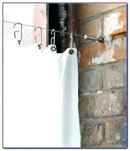 gardinen aufhangen mit seil drahtseil spannen vorhang zuhause image idee gardinen