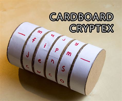 cardboard cryptex safe 9 steps with pictures