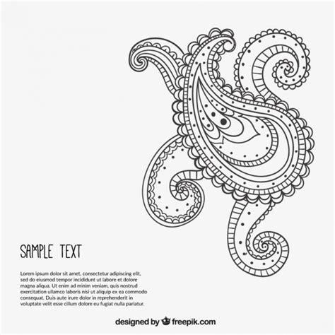 Vorlagen Orientalische Muster Sketchy Paisley Ornament Vorlage Der Kostenlosen Vektor