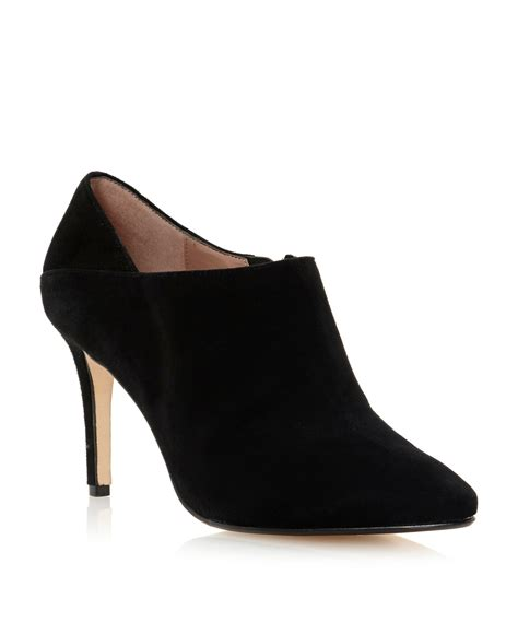 dune avinda simple shoe boots in black black suede lyst