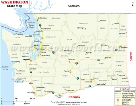 Washington State Name Search Buy Washington State Map