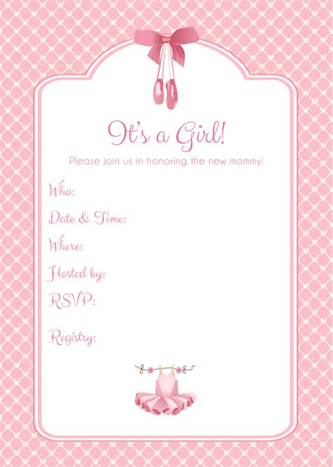 Blank Baby Shower Invitations by Theme Blank Baby Showers Invitations