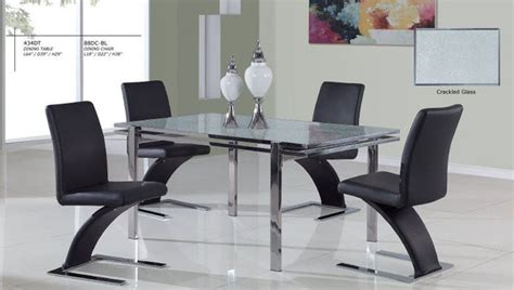 luxurious glass top 5 kitchen set with chairs