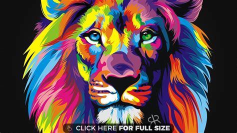 Colorful Lion Wallpaper Hd   colorful lion hd wallpaper