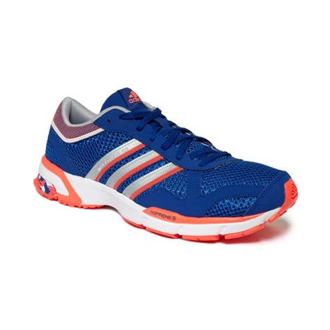 adidas marathon 10 m sneakers from finish line in blue for silver lyst