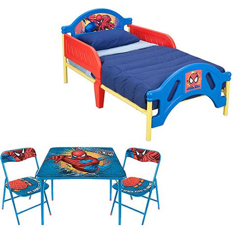 spiderman toddler bed marvel spider man toddler bed w table chairs set