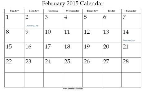 online blank calendar february 2015 related keywords suggestions for month of february 2015